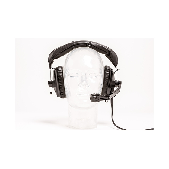 Pro-Audio pro headset - single muff with Dynamic Microphone