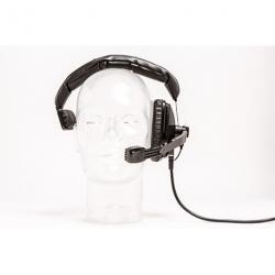 Micro-casque professionnel audio pro mono-oreille