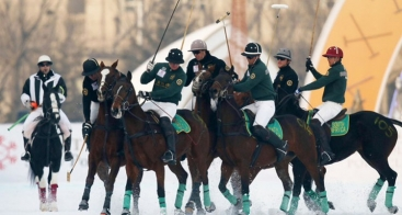 Vokkero Squadra used in China at the Snow Polo Cup 2014